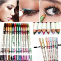 12pcs/lot 12 Colors Waterproof Glitter Emerald Eyeliner Eye Liner Pencil MakeUp Pencil