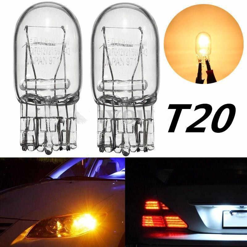 2pcs Led T20 7440 W21//5W Halogen Ice Blue DRL Turn Signal Stop Brake Light Bulb