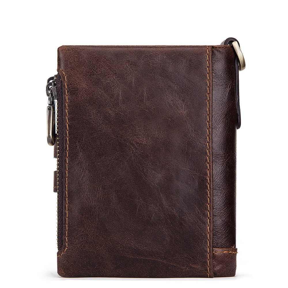 KAVIS الحرة النقش تتفاعل حقيقية بقرة محفظة جلدية رجالي محفظة نسائية للعملات المعدنية الذكور Cuzdan محفظة رجل Portomonee جيب صغير Walet
