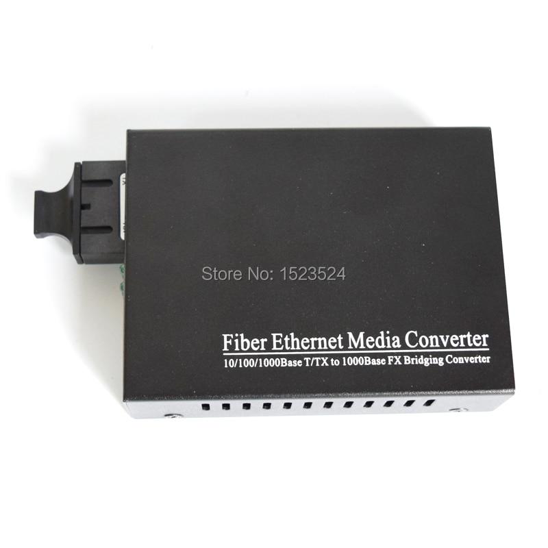 High Quality Dual Fiber Media Converter SM 20km SC Gigabit Fiber Optical Media Converter 1000Mbps Single