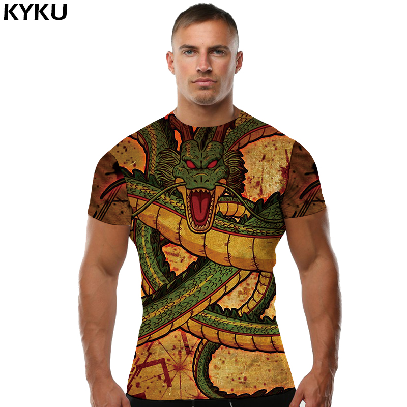 KYKU Brand Dragon Ball Z   Shirt   Short Sleeve Mens Clothing Blood   T  -  shirt   Dark Clothes 3d Print   T     Shirt   Men 2018 Summer New