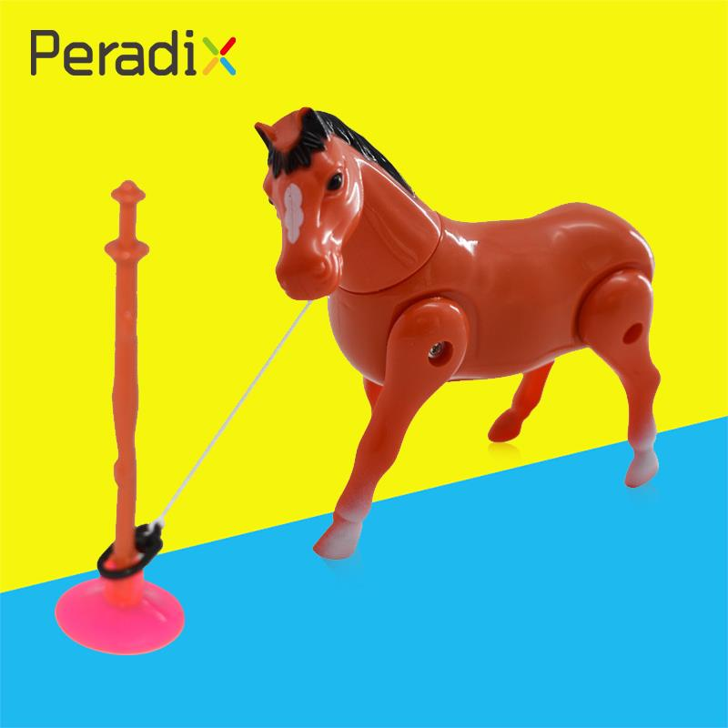 Electric Ponies Circle Horse Around Pile Children Kid Toy Gift ABS Random Color
