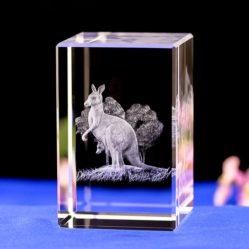 Kangaroos laser Engrave 3D night Light Color Changing Battery Charge 3D Lamp