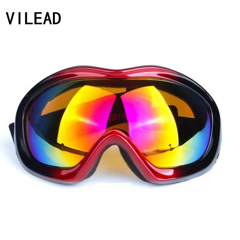 Prix pour VILEAD UV400 Coupe-Vent Lunettes de Ski Lunettes de Snowboard En Plein Air Moto Antipoussière Hommes Femmes Anti-brouillard lunettes de Soleil