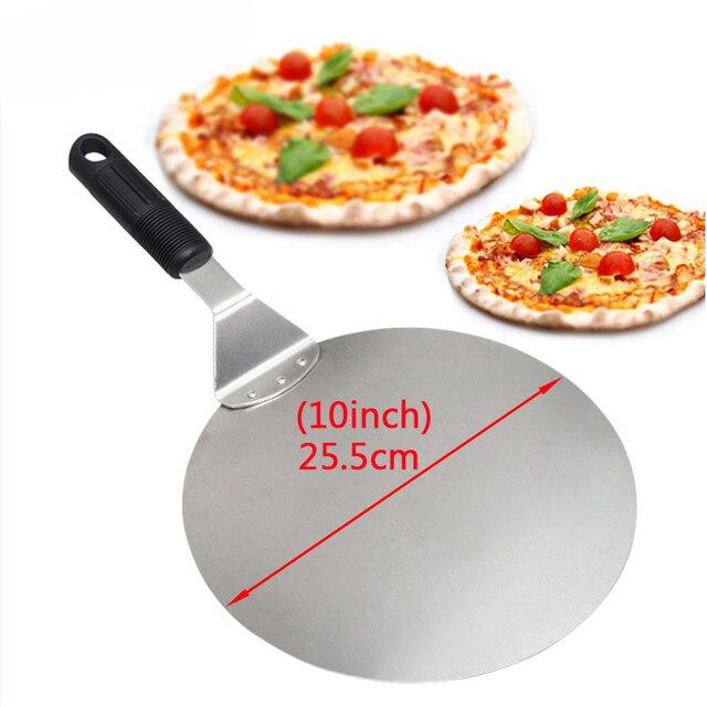 25,5 дюймовая лопатка для пиццы из нержавеющей стали, подставка для торта, подставка для торта, поднос, приспособление для переключения еды, жаропрочная посуда