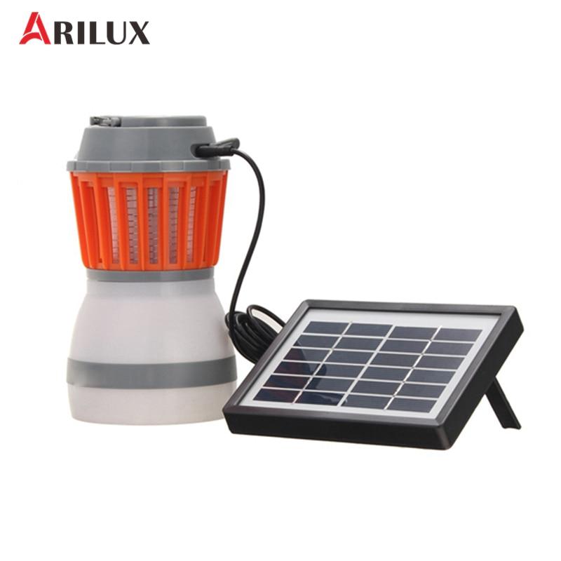 ARILUX Portable USB Charging/Solar Power LED Mosquito Killer Camping Light Multi-fuction LED Light Lamp Waterproof Emergency