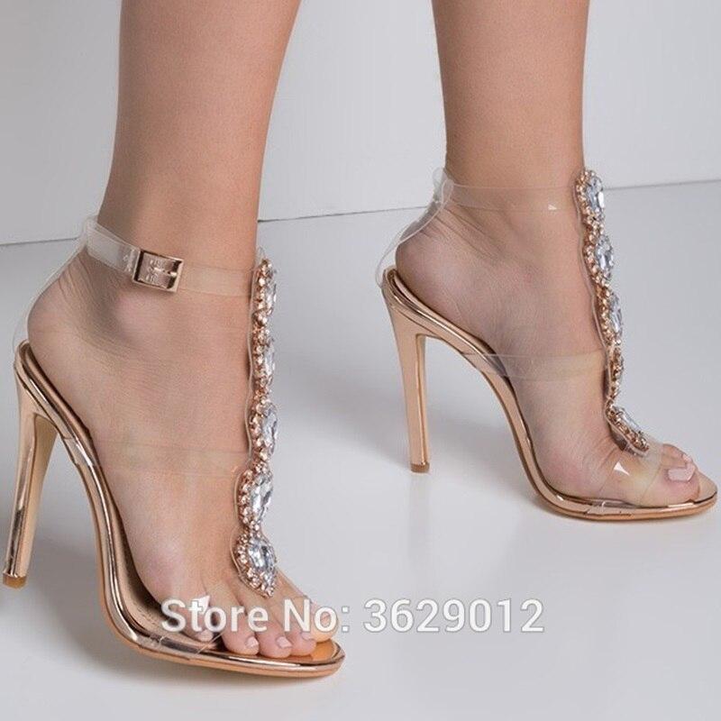 Zapatos Del Tobillo Cristal 1 Tacón 3 color Gladiador Rhinestone De Punta Mujeres Color Diamante Lynskey 4 color 2 Las Correa color Sandalias Abierta qgz7n8S