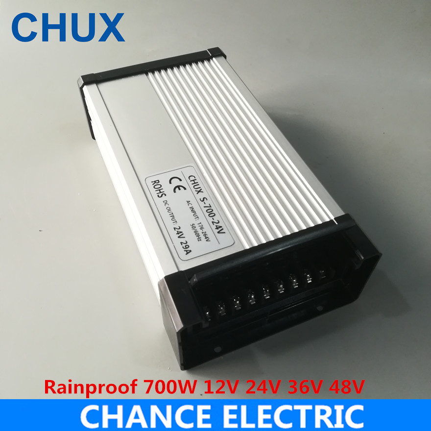 CHUX Rainproof Switching Power Supply 700w 12v 24v 36V 48V DC CE ac to dc constant voltage LED Outdoor Power Supply 720WCHUX Rainproof Switching Power Supply 700w 12v 24v 36V 48V DC CE ac to dc constant voltage LED Outdoor Power Supply 720W