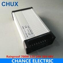 CHUX interruptor impermeable fuente de alimentación 700w 12v 24v 36V 48V DC CE a dc voltaje constante LED fuente de alimentación al aire libre 720W