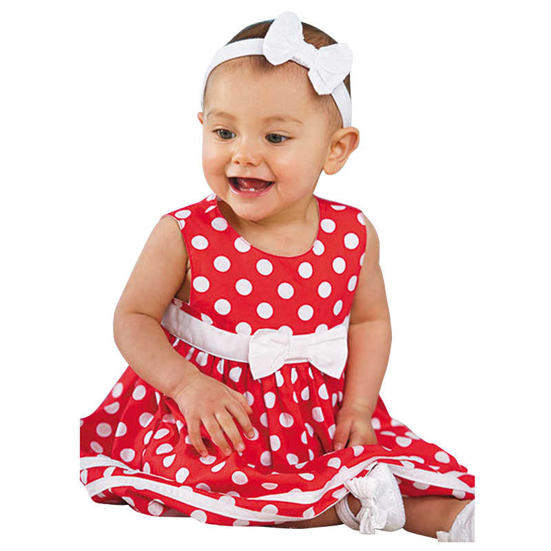 ddfde9b05b6 Модные Обувь для девочек платье в красный горошек сарафан детская одежда  хлопок 2017 Летнее платье принцессы