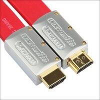 HDMI 2.0 Cabo HDMI para HDMI Cabo Adaptador 4 k Lata de Cobre Chapeado para HD TV Projetor LCD Monitor de Computador cabo