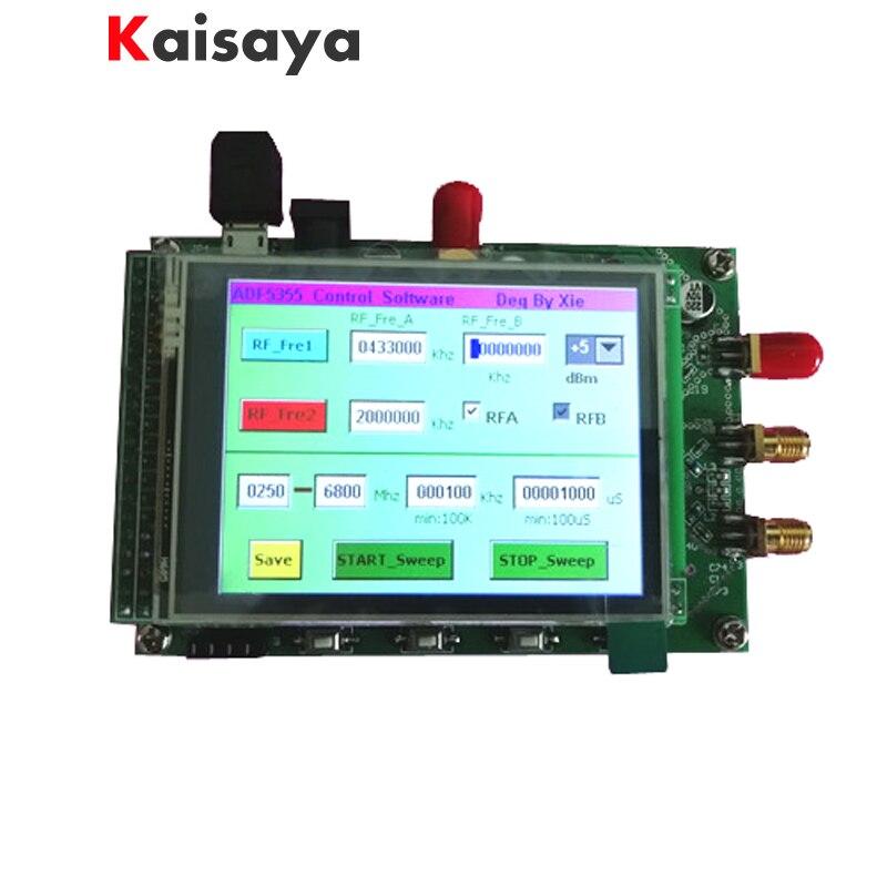 Nouveau ADF5355 module écran couleur tactile lcd balayage RF source de signal VCO micro-onde fréquence synthétiseur PLL livraison gratuite G3-001