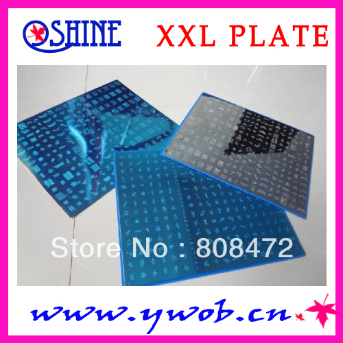 New Stamping Big size Template XXL size various Designs Nail Art BigTemplate DIY 3pcs per LOTS цена