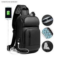 Multifunction Crossbody Bags Men USB Charging Chest Pack Short Trip Messengers Chest Bag Water Repellent Shoulder Bag Male все цены