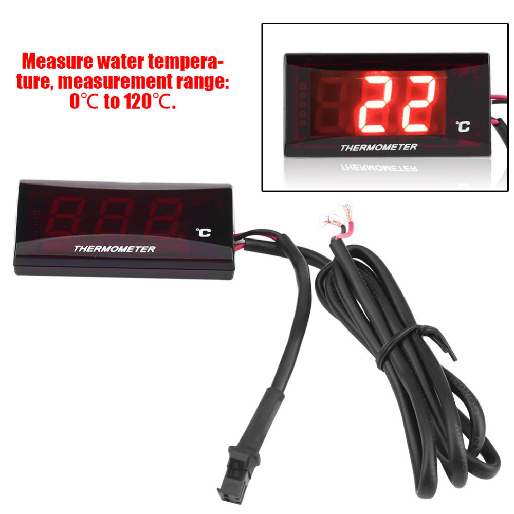 Special Offer Motorcycle Digital Thermometer Water Temp Temperature Gauge Meter for Racing Scooter Motorbike Thermometers sepp motorcycle water temperature meter digital thermometer temp gauge with color screen auto sensor for all cars