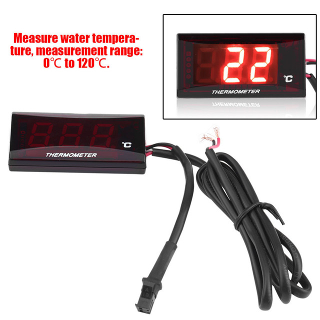 Special Offer Motorcycle Digital Thermometer Water Temp Temperature Gauge Meter for Racing Scooter Motorbike Thermometers