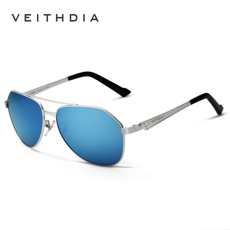 VEITHDIA Brand Stainless Steel Sunglasses Mens Polarized Coating Mirror Lens sunglass Big oculos Sun Glasses for