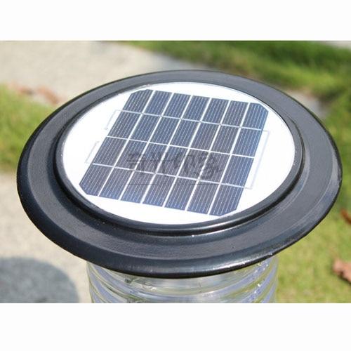 LED solaire alimenté en plein air jardin lumière pelouse lampe voie coulée en aluminium acrylique chapeau LED Yard lumières solaires avec interrupteur marche/arrêt - 3