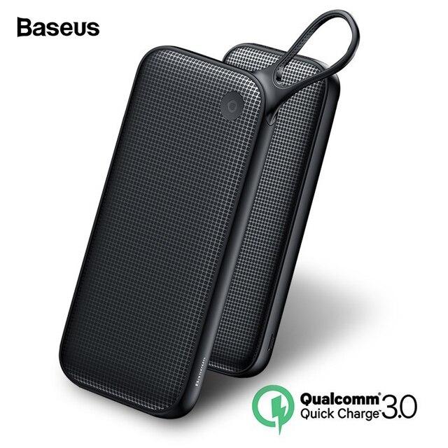 Baseus 20000 мАч Быстрая зарядка 3,0 power Bank 20000 мАч Тип C PD Pover повербанк Быстрая зарядка внешний аккумулятор зарядное устройство power bank