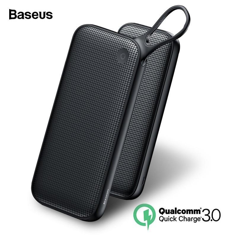 Baseus 20000 mAh Quick Charge 3,0 Power Bank 20000 mAh USB C Pover Poverbank Tragbare Lade Externe Batterie Ladegerät Power
