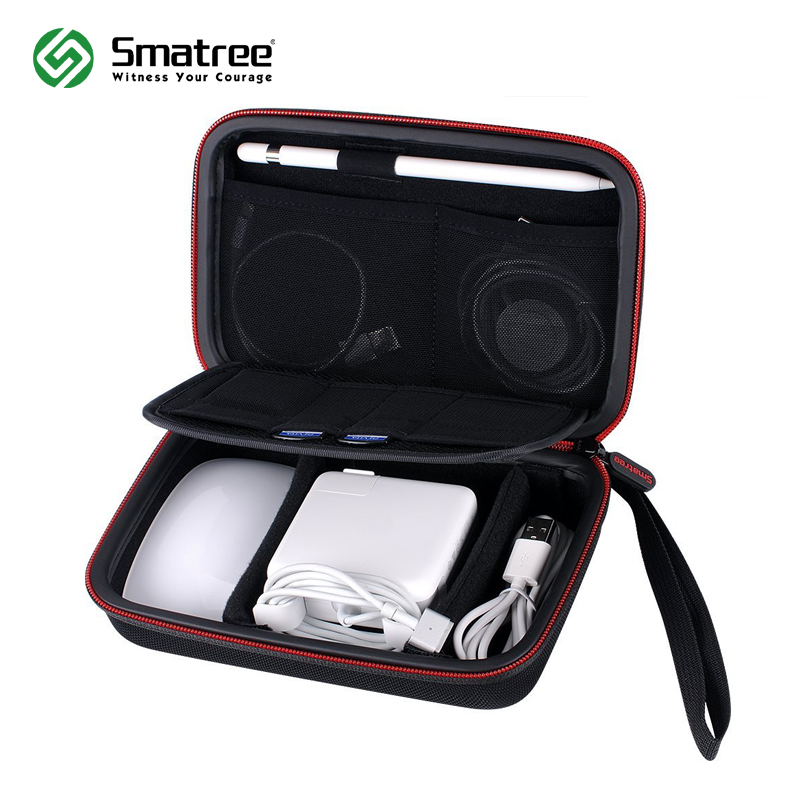 Smatree Hard Case A90 for Apple Pencil, Magic Mouse, Magsafe Power Adapter, Magnetic Charging Cable magnetic buckle up pencil case