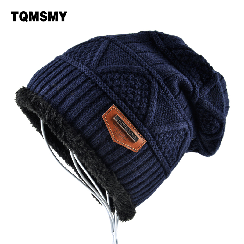 Brand Hat Men Winter Beanies Women Knitted Wool Bonnet Plus Velvet Soft Beanie Autumn Man Cap Gorros Caps For Man Turban Hats