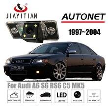 Câmera de Visão Traseira Para Audi A6 S6 RS6 C5 JiaYiTian MK5 1997 ~ 2004 CCD 4 LEDS Night Vision Reversa câmera/Câmera de Segurança