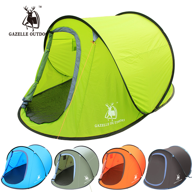 Beach Camping Tent Pop Up Open Speed Automatic Setup Easy Foldable Shelter anti-UV Coating Garden Picnic Fishing Waterproof Tent outdoor summer tent gazebo beach tent sun shelter uv protect fully automatic quick open pop up awning fishing tent big size
