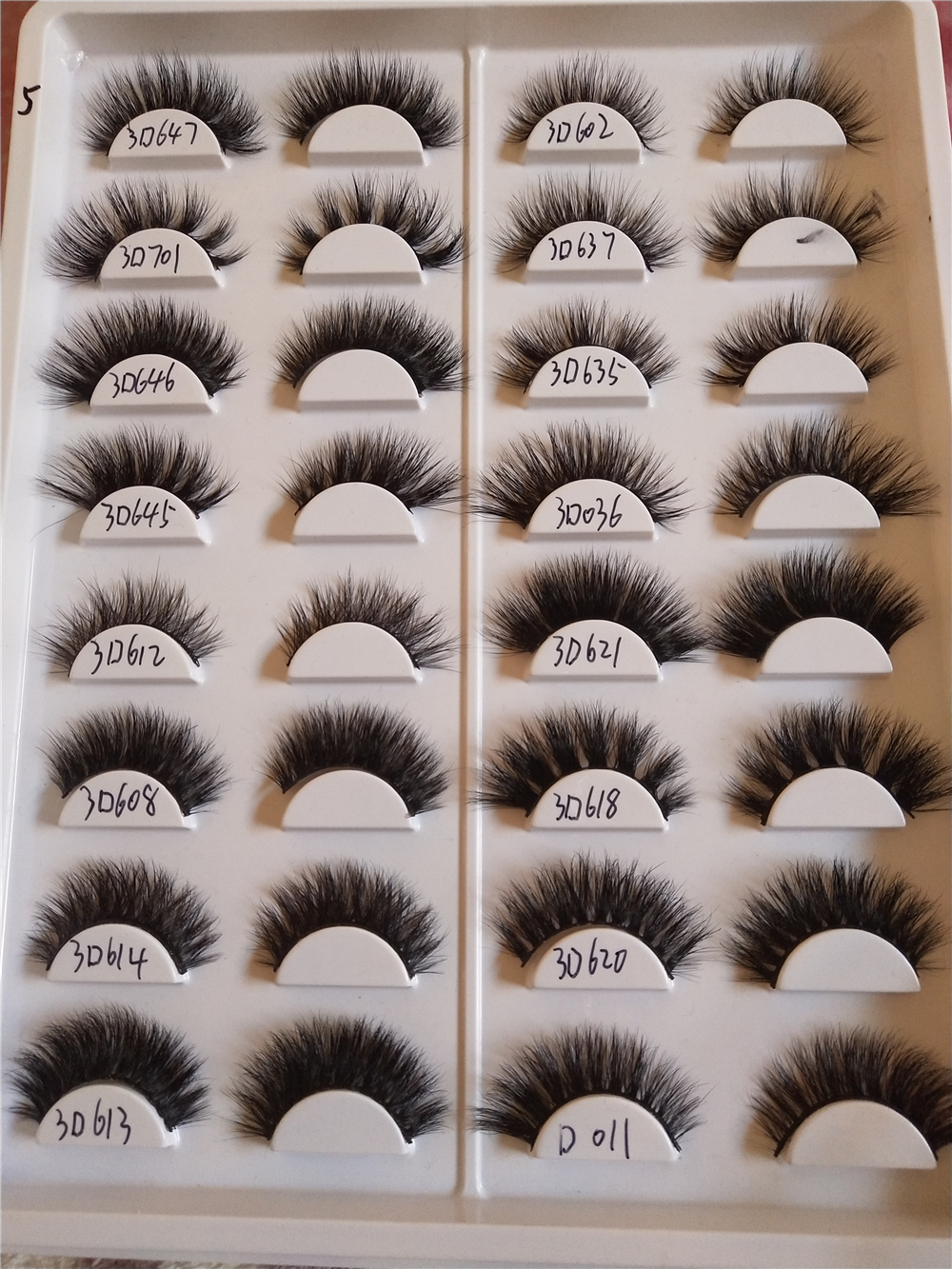 HaHaLash crueltyfree 3D Mink Eyelashes 100 natrual made by hand luxury design more hair supper stacked clio series D633 in False Eyelashes from Beauty Health