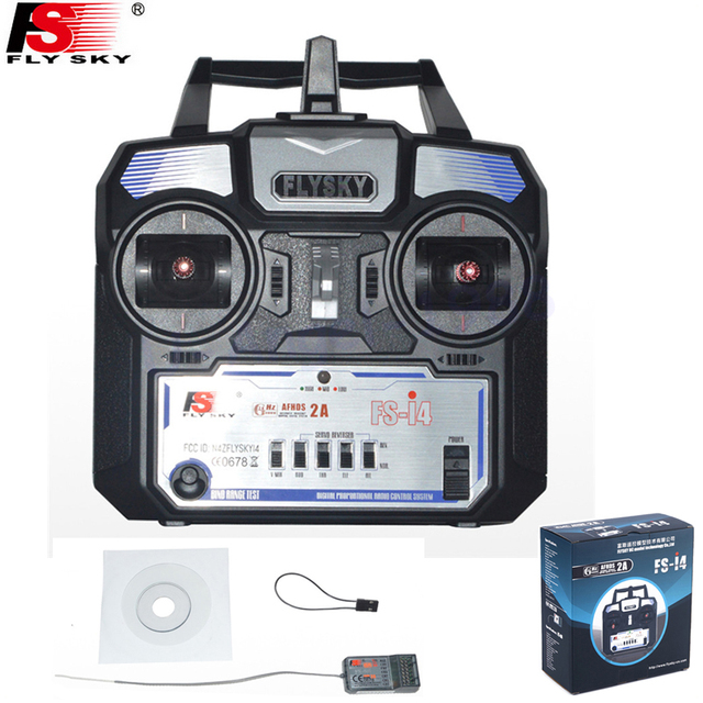 Flysky FS-i4 FS-i4X 2.4G 4CH Radio RC Transmitter  with FS-A6 Receiver For RC Helicopter Airplane Remote control