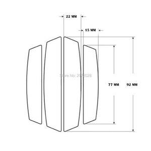4 x Автомобильный Стайлинг Защита края двери полоски анти-столкновения против царапин отделка защитные наклейки на края дверей для соединит...
