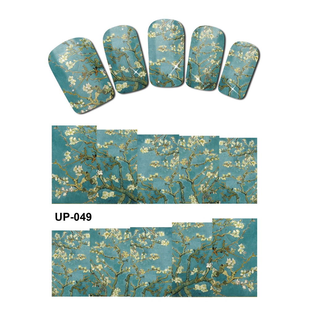 UPRETTEGO NAIL ART BEAUTY TATTOO WATER TRANSFER DECAL SLIDER OIL PAINTING VINTAGE VASE SUN FLOWER ROSE GOD MOTHER UP049-054 bering classic 10540 404