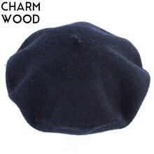 Otoño de las mujeres de Cachemira moda sombrero boina caliente sólido de  las lanas boinas para las mujeres francés Beanie Beret . 7304e4304d5