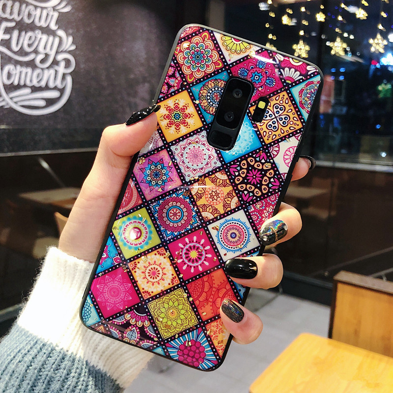 Luxury Gold Foil Bling Glitter Phone Case For Samsung Galaxy S10 S9 S8 Plus S10e NOTE 9 Cute Love Heart Soft Silicone Back Cover