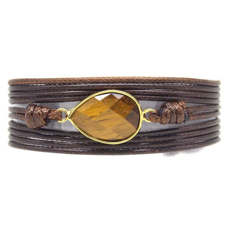 Dropshipping Wrap Bracelets Natural Stones Charm 5 Times Friendship Bracelet Boho Bracelet Homme