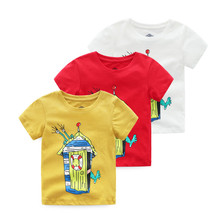 hot deal buy vinnytido children t shirts for boys clothes 2018 summer 100% cotton tops tee shirts cartoon t-shirts boy clothing