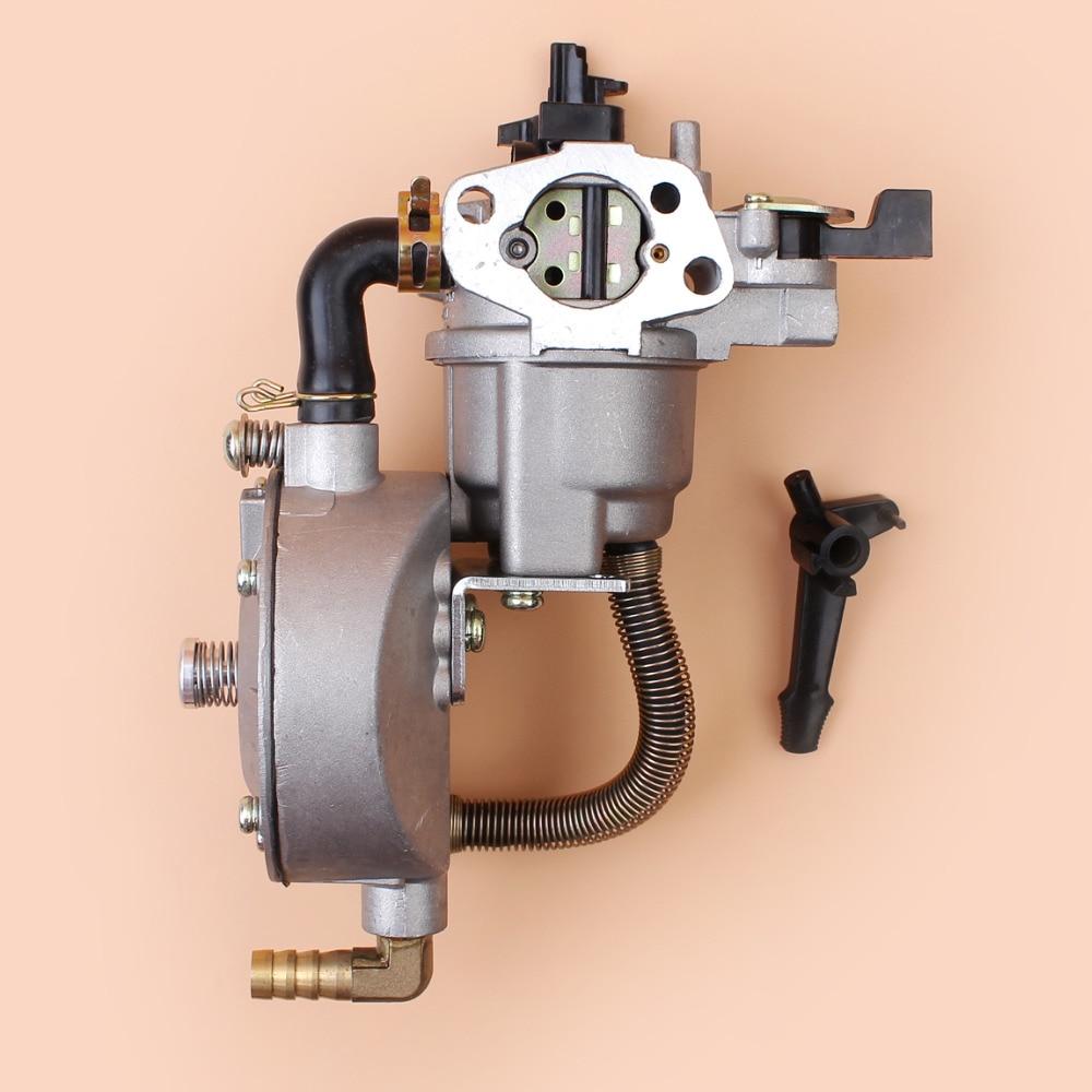 Tools : Dual Fuel Carburetor For HONDA GX160 GX200 GX 160 200 Chinese 168F 170F 5 5HP 6 5HP Gasoline Water Pump 4-Stroke Motor Engine