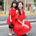 Verano Nueva Familia Juego Trajes de Moda A Juego Vestidos de Ropa de la Familia de Madre e Hija Familia