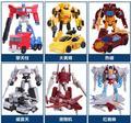 Los niños De Plástico robot deformación funde vehículos de juguete niño juguetes Transformación Optimus Prime Galvatron modelo 6 tipos disponibles