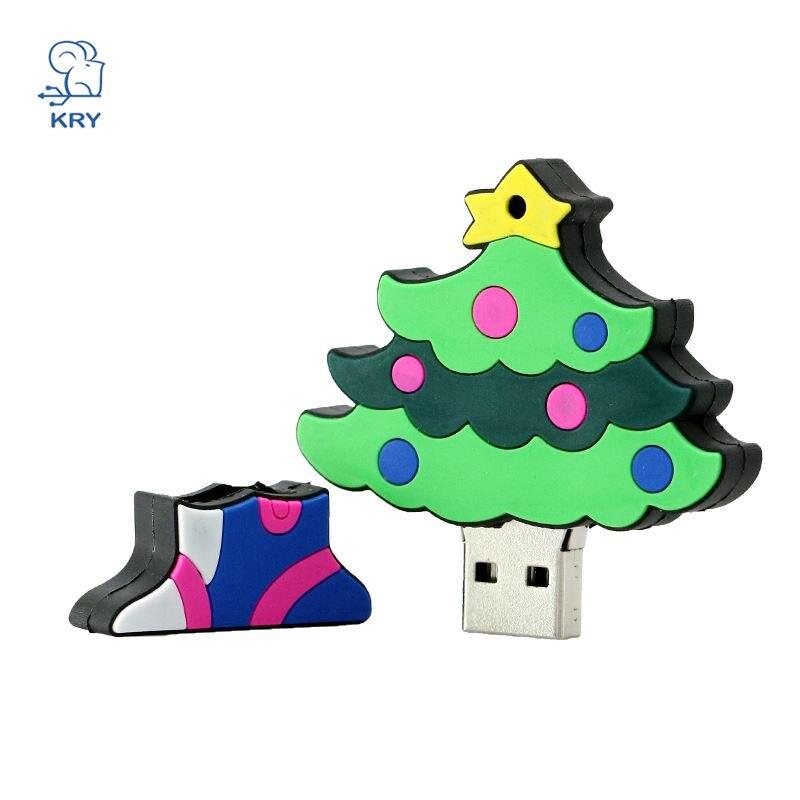 kry plastic colorful christmas tree usb 20 portable flash drive 4gb 8gb 16gb 32gb 64gb creative pendrive thumb 30 memory stick in usb flash drives from - Usb Christmas Tree