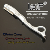 LOOF Ultrasonic Hot Vibrating Razor For Hair Cut With 10pcs Of Spare Blades Hair Styling Tools