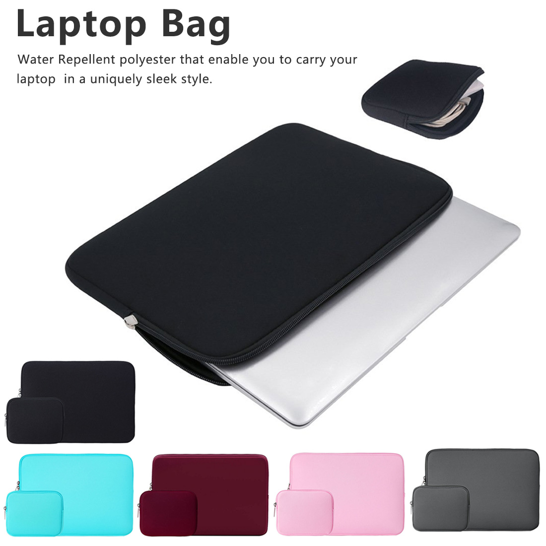 <font><b>Laptop</b></font> For Asus Acer HP Lenovo 11 13.3 <font><b>14</b></font> 15.6 <font><b>inch</b></font> for Macbook Air 11 13/Pro 13 15 Neoprene Water Repellent <font><b>Sleeve</b></font> Cases image