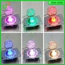 2 шт. 4/8way светодиодный джойстик с украшением в виде кристаллов баббл украшением в виде шариков в верхней части 7 цветов подсветки светодиодный рыб/Аркада jamma игровой джойстик