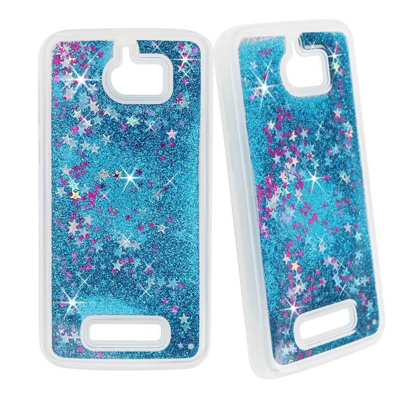 Dynamic Liquid Glitter Sand Quicksand Star Soft TPU Case for Coolpad Defiant 3632 Crystal Clear Back Cover
