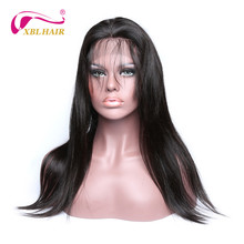 XBL HAIR Brazilian 130% Density Straight Lace Front Human Hair Wigs For Black Women Pre Plucked With Baby Hair Remy Hair Wig
