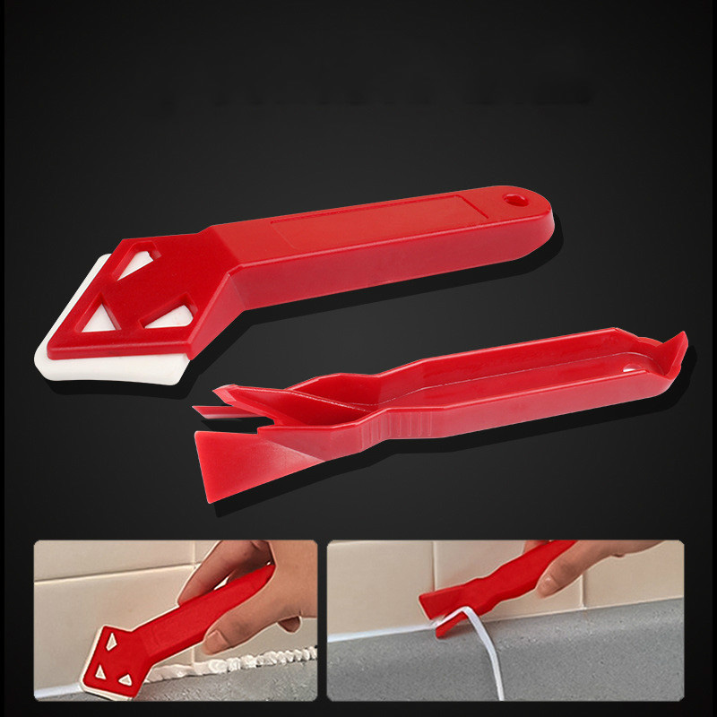 Hot Sale 2 Pieces / s Handmade Tools Scraper Utility Practical Floor Cleaner Tile Cleaner Surface Glue Residual Shovel