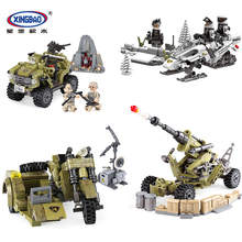 XINGBAO Military Army Series World War 2 Building Blocks Armored Vehicle Motorcycle Cannon Building Bricks Compatible WW2 Toys