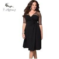 7 Attract Plus Size XXL Women Fashion Half Sleeve Work Wear Sugar And Spice Cozy Vestidos