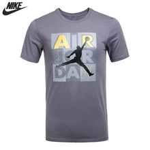 NIKE Original New Arrival Mens Breathable Short Sleeve T-shirts Pattern Printed Sportswear For Men