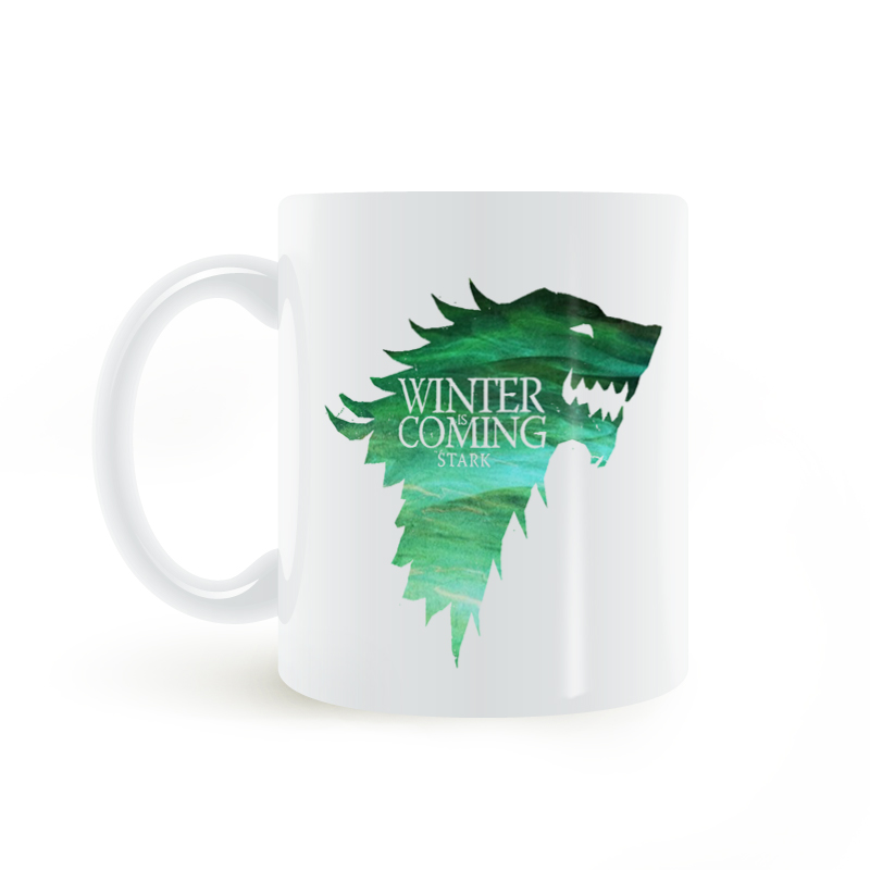 Game of Thrones Winter is Coming Stark Coat of Arms Mug Coffee Milk Ceramic Creative DIY Gifts Home Decor Mugs 11oz T292